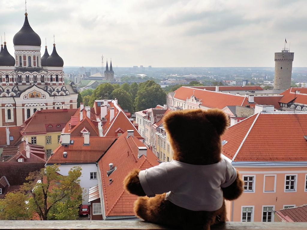 Auf dem Turm des Doms von Tallin