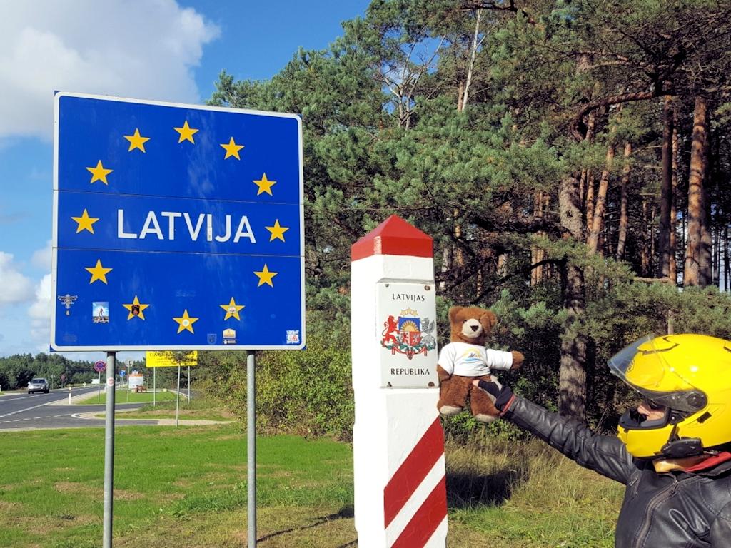 Grenzübergang von Estland nach Lettland