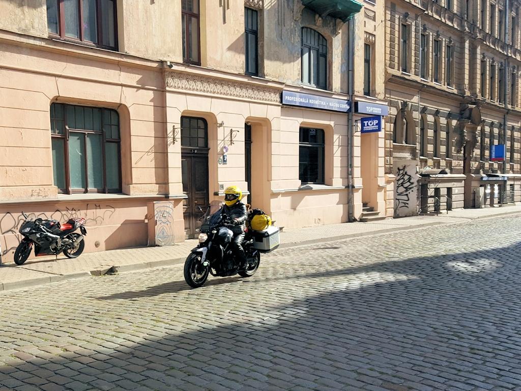 Kopfsteinpflaster in der Altstadt von Riga