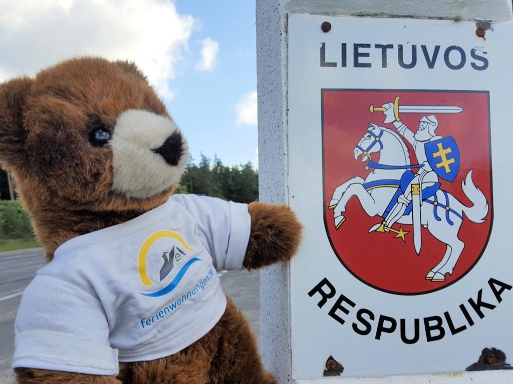 An der Grenze von Lettland nach Litauen