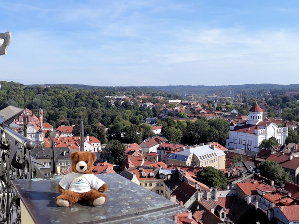 Blick vom Universitäts-Turm auf Vilnius