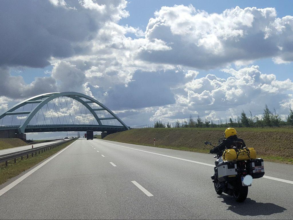 Exsozia auf der E65 in Polen