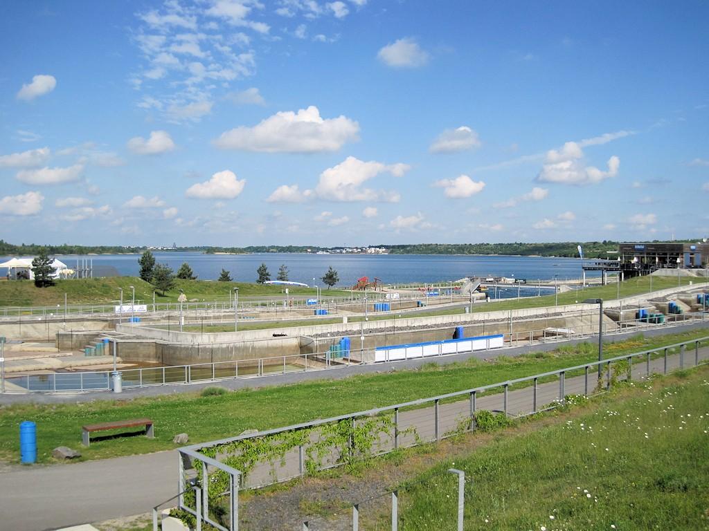Der Markkleeberger See mit Kanupark