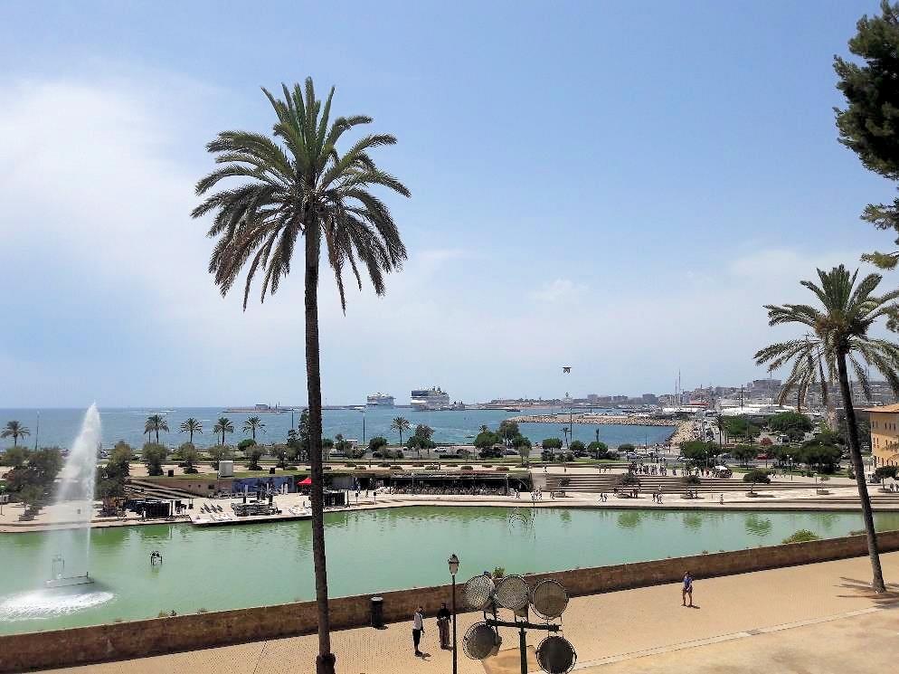 Palma de Mallorca - Blick auf Hafen