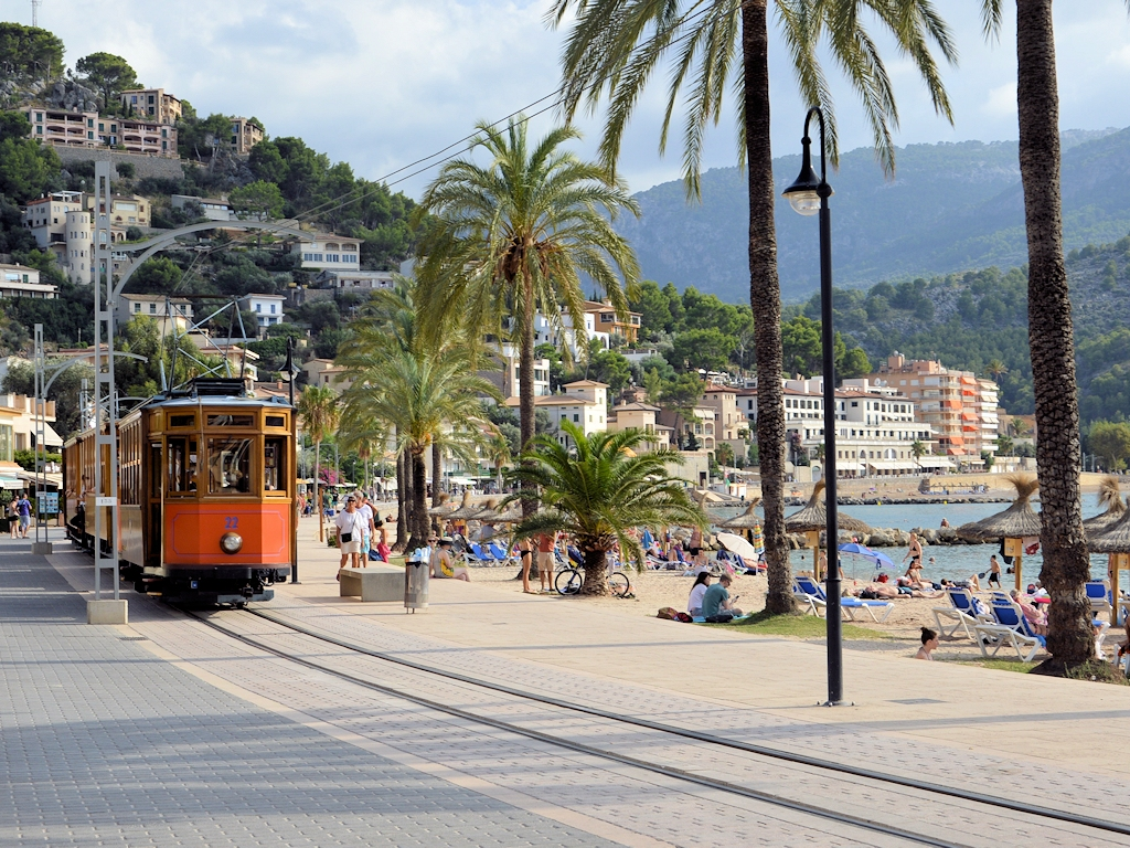 Schmalspurbahn in Port de Sóller