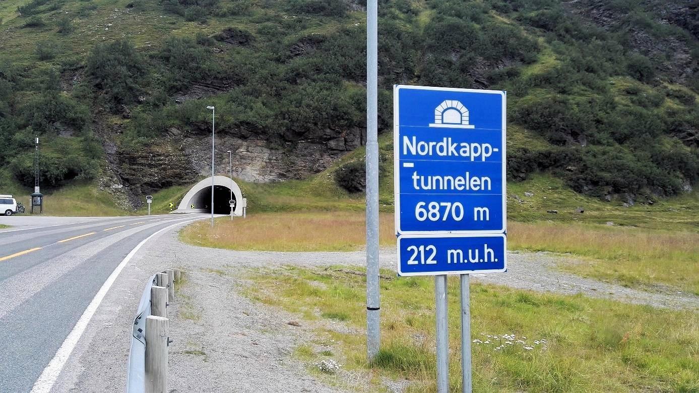 Letzte Herausforderung auf dem Weg zum Nordkap: Der Nordkaptunnel