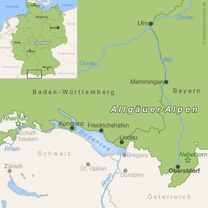 Karte Oberstdorf und Umgebung