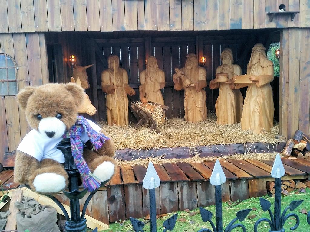 Lebensgroße Weihnachtskrippe zur Märchenweihnacht auf Schloss Glücksburg