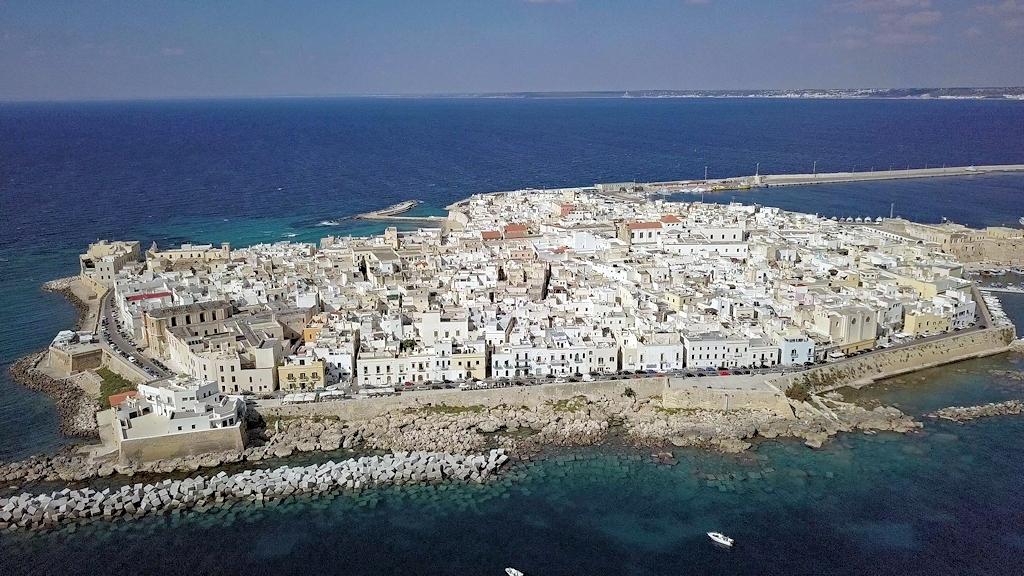 Apulien im Herbst - Gallipoli aus der Luft
