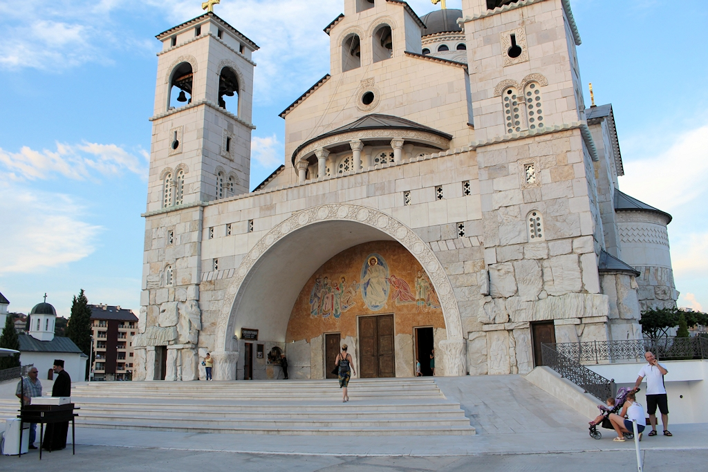 Die Auferstehungskathedrale in Podgorica