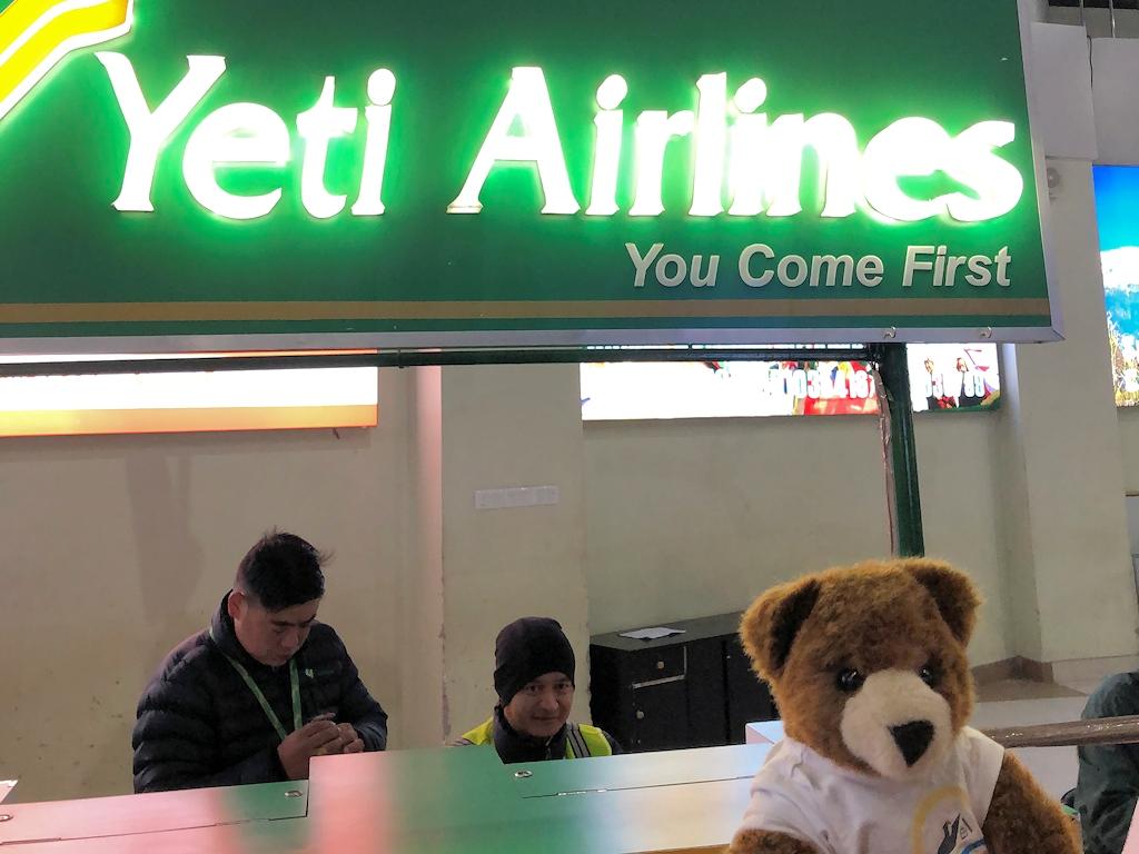 Wir fliegen mit Yeti Airlines