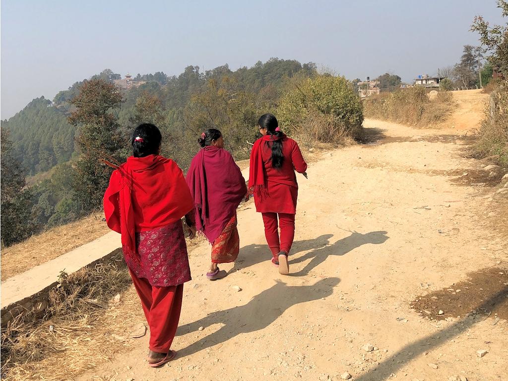 Wanderung zum Tempel