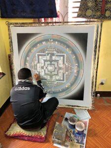 Mandalamaler in Bhaktapur