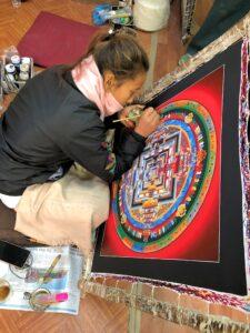 Mandalamalerin in Bhaktapur