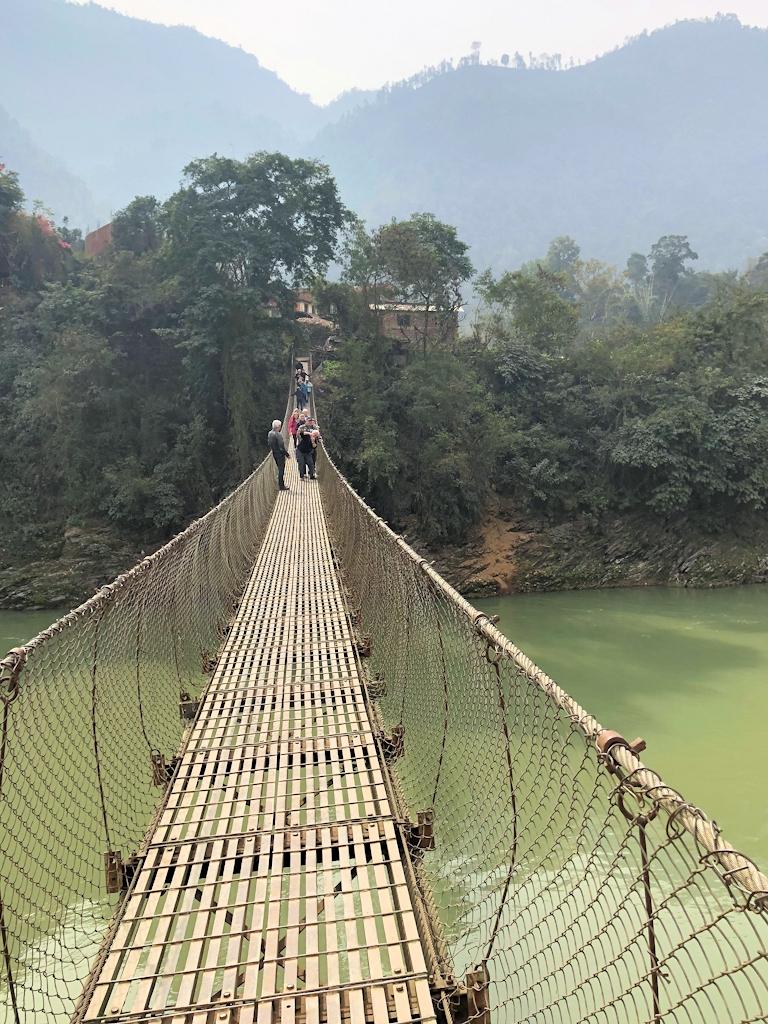 Eine Häengebrücke als Pausenbeschäftigung