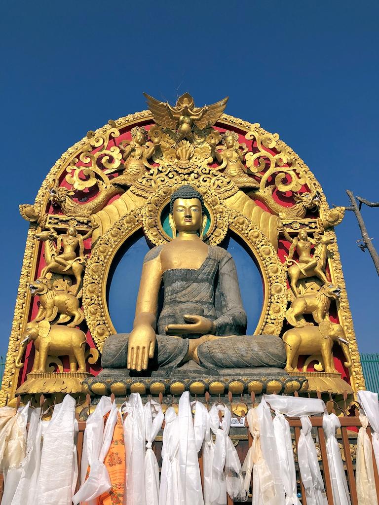 Ein Buddha im Kloster Namobuddha