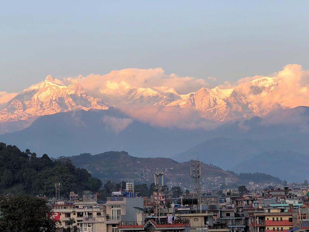 Sonnenuntergang in Pokhara (Nepal)