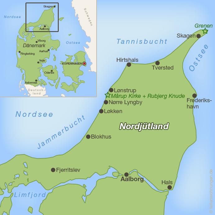 Karte Nordjütland