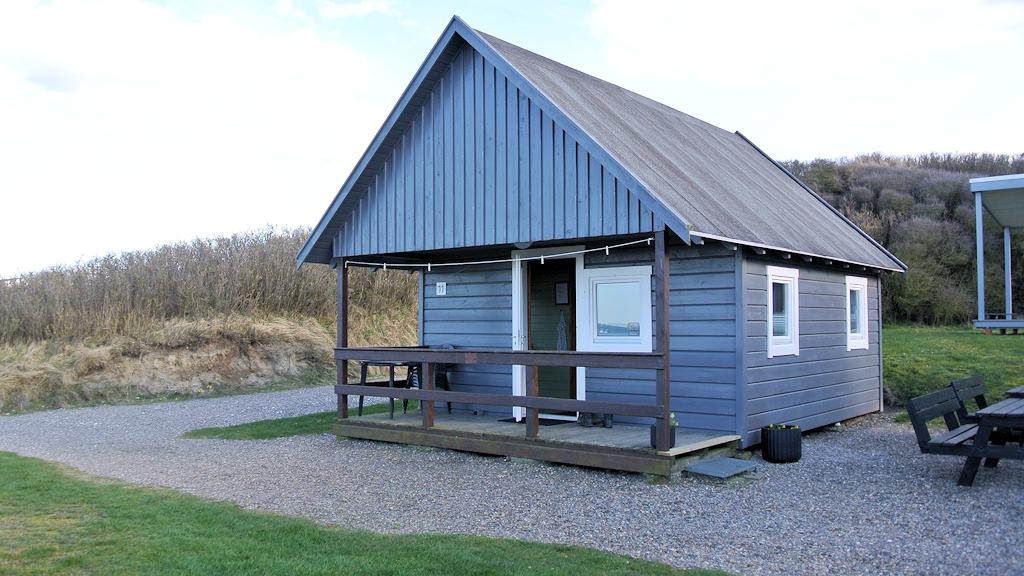 Hütte auf dem Campingplatz in Hirtshals