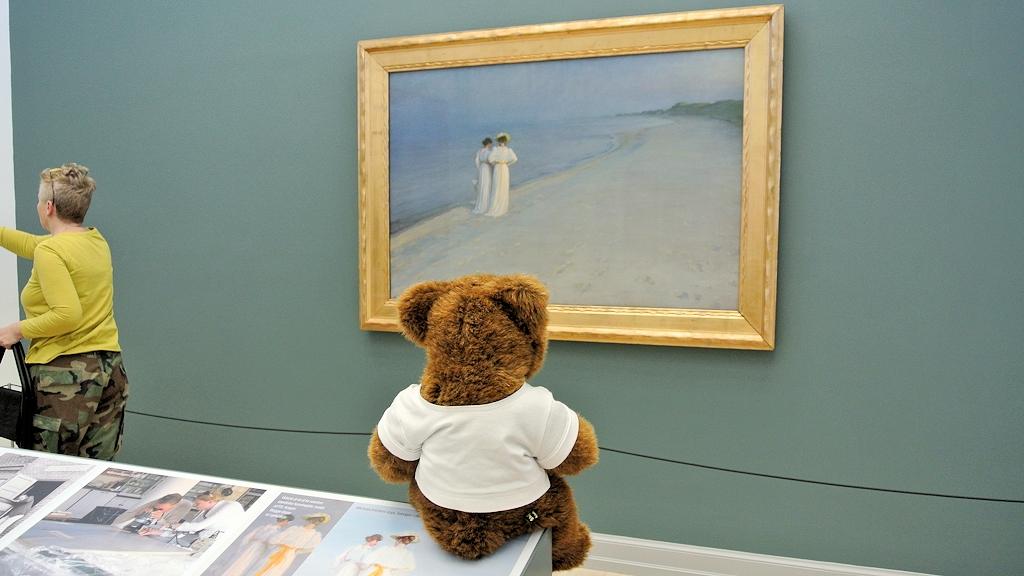 """Der Urlaubär und das brühmte Bild """"Sommerabend am Skagener Südstrand"""" von P. S. Krøyer"""