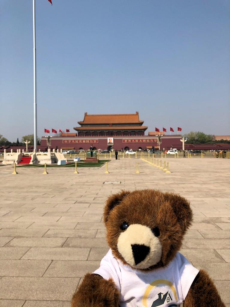 Der Urlaubär auf dem Tian'anmen-Platz