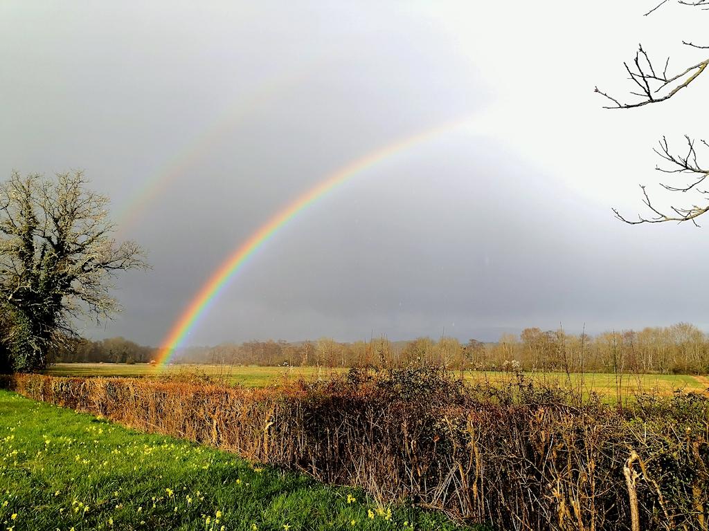 Frankreich zu Fuß - Regenbogen