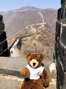 Der Urlaubär an der Chinesischen Mauer