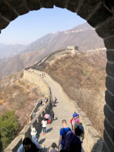 Auf der Chinesischen Mauer bei Peking