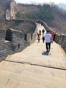 Auf der Chinesischen Mauer unterwegs