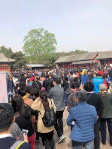 Menschenmassen im Sommerpalast in Peking