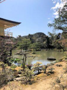 Garten um den buddhistischen Tempel Kinkaku-ji