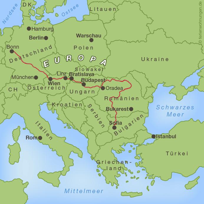 Rumänien - Bisheriger Verlauf der Motorradreise zum Schwarzen Meer