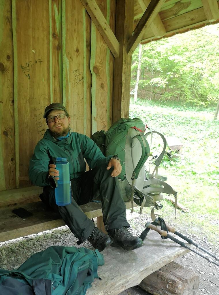 Deutschland zu Fuß - Pause im Teutoburger Wald