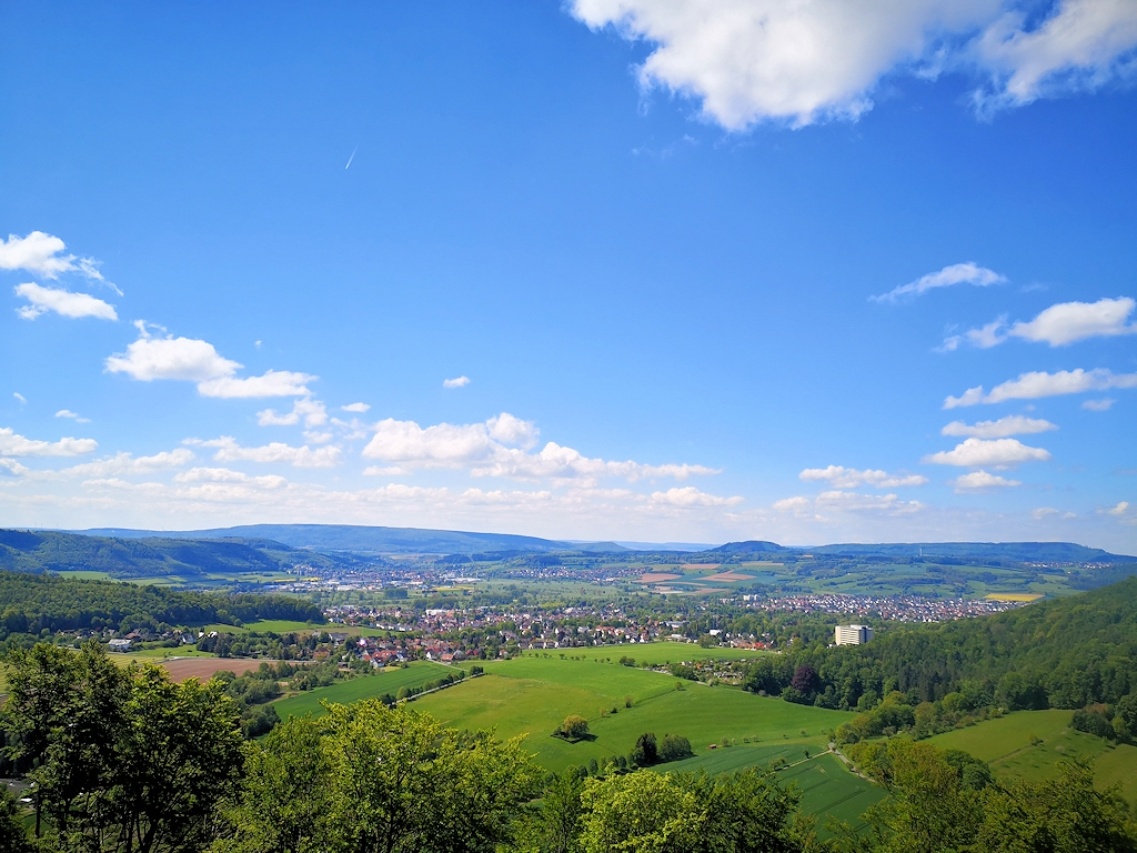 Ausblick auf Bad Pyrmont im Weserbergland