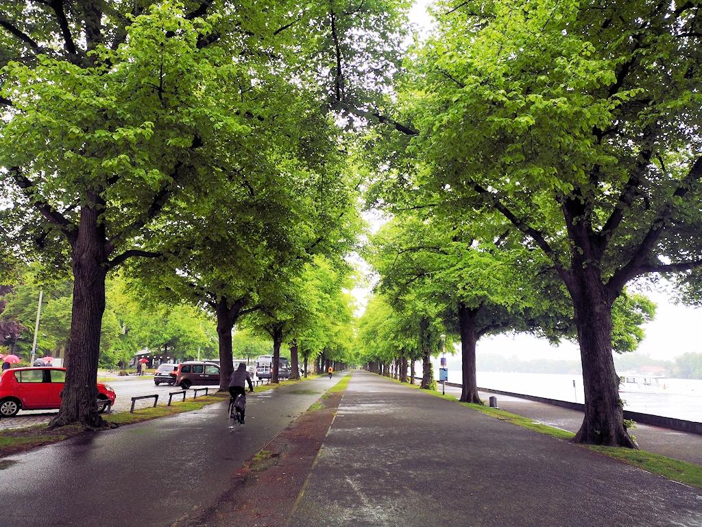 Deutschland zu Fuß - Wanderweg am Maschsee in Hannover