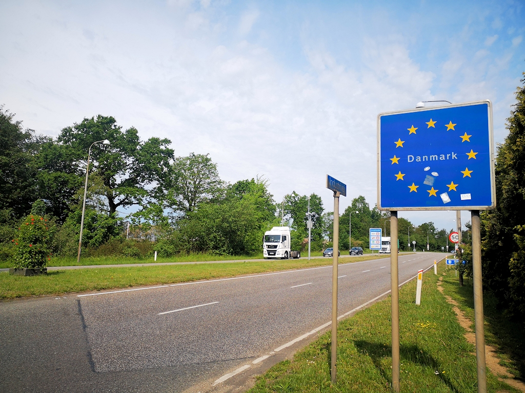 Der dänischen Grenze entgegen