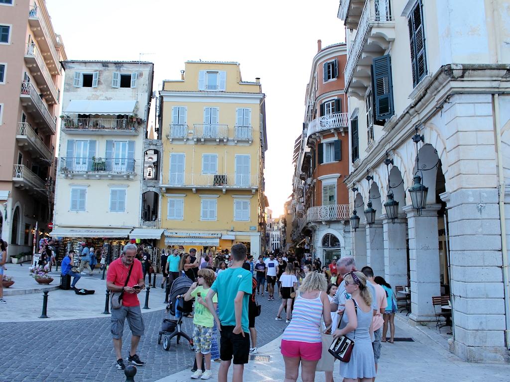 In der Altstadt von Korfu-Stadt
