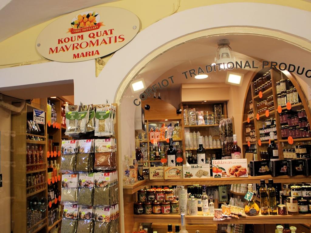 Spezialitätenladen in der Altstadt von Korfu