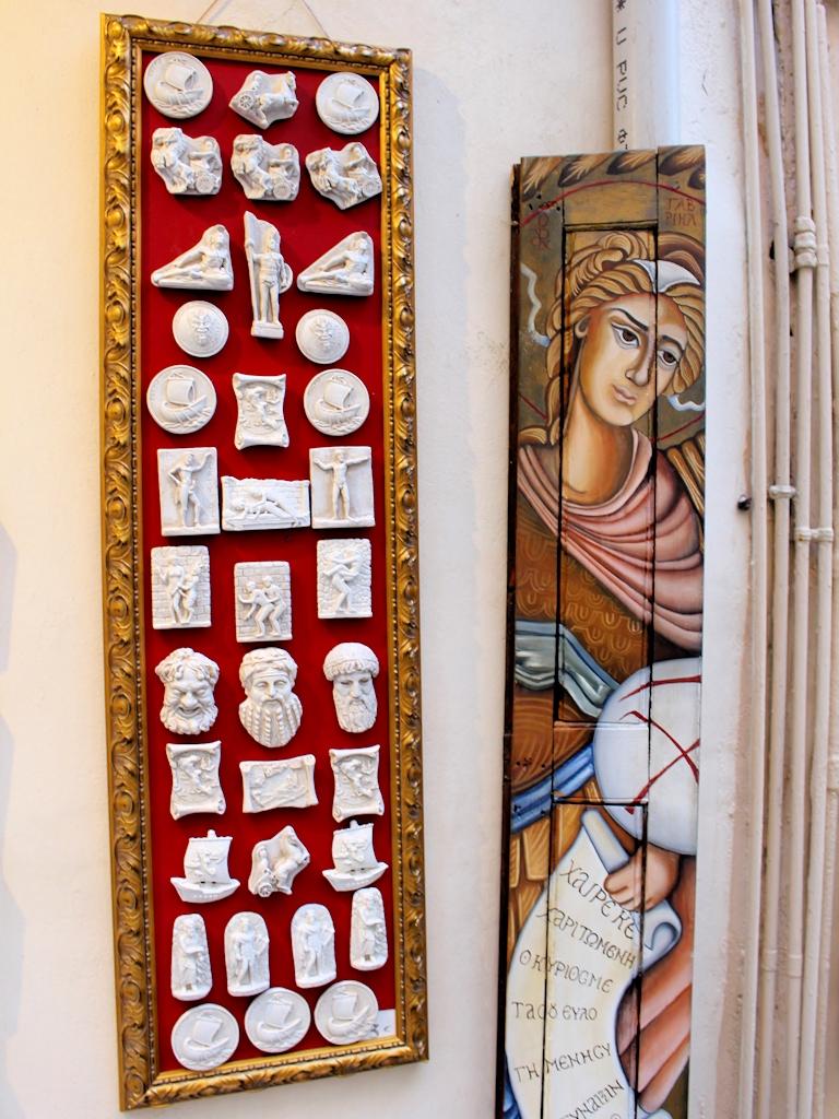 Kunst in der Altstadt von Korfu