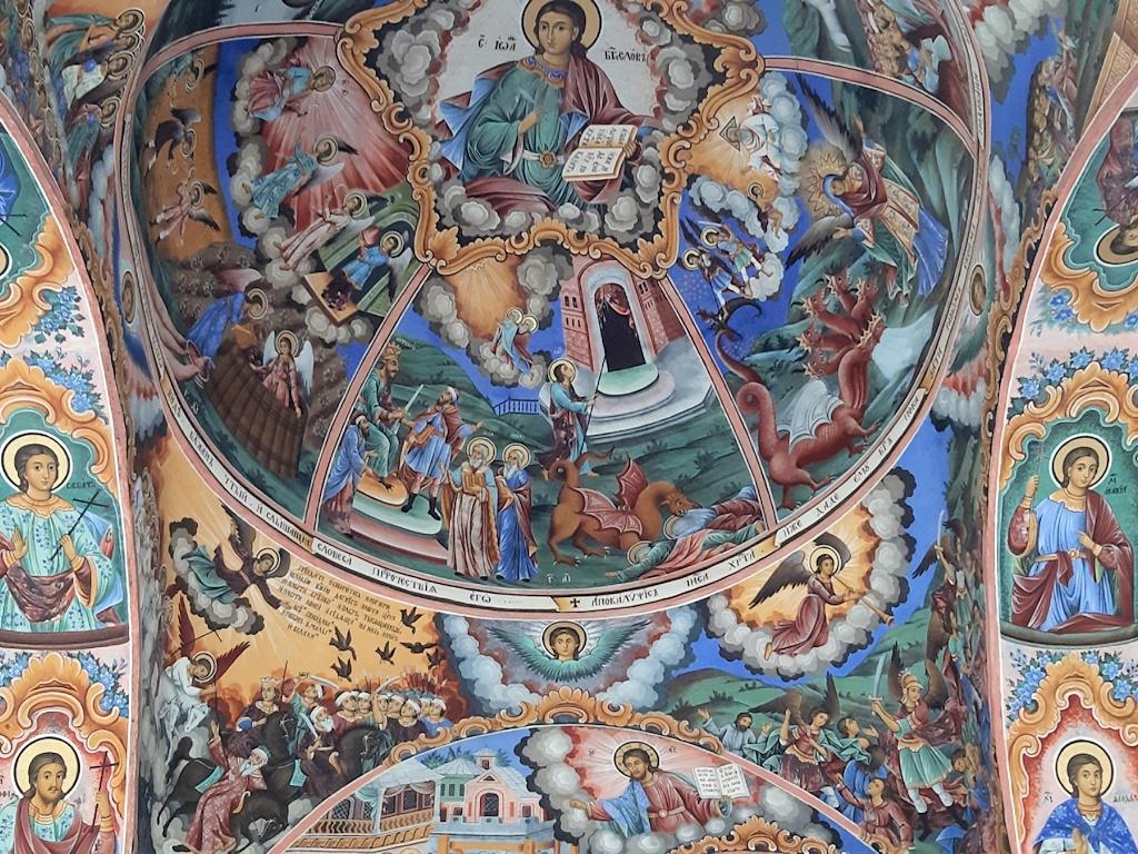 Deckenfresken im Rila-Kloster