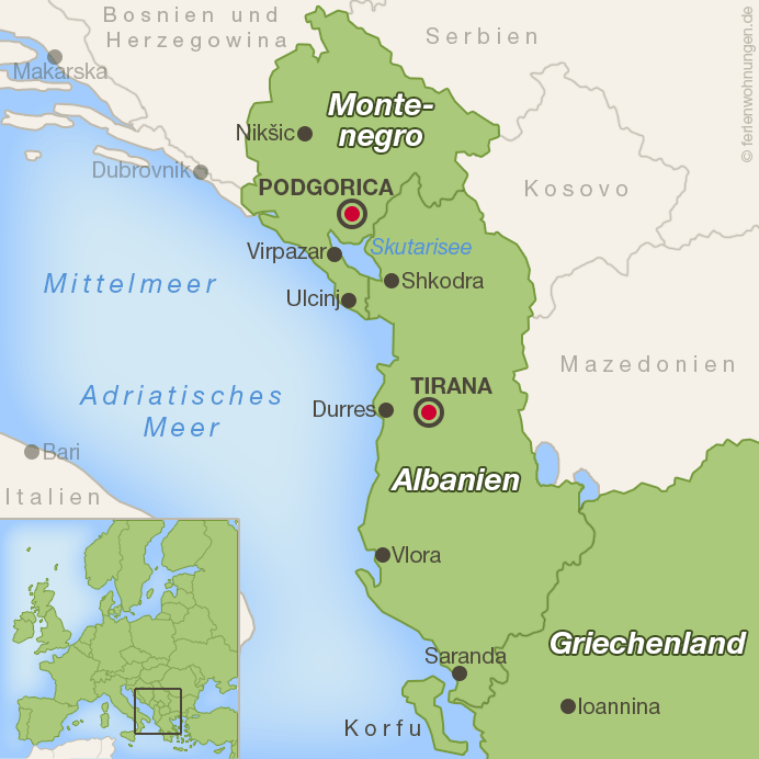 Karte Balkan