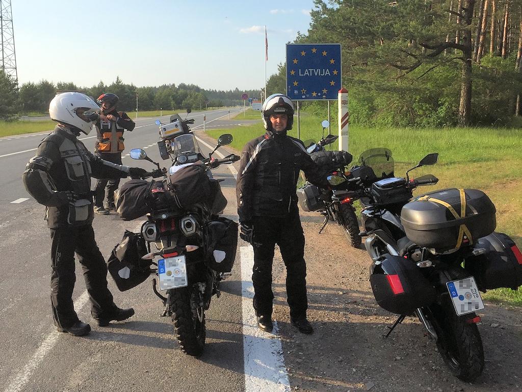 Grenzübertritt nach Lettland