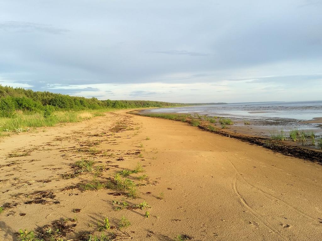 Einsamer Ostseestrand in Lettland