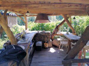 Außenküche zum Baumhaus