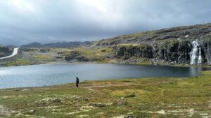 Wasserfall auf dem Aurlandsfjellet
