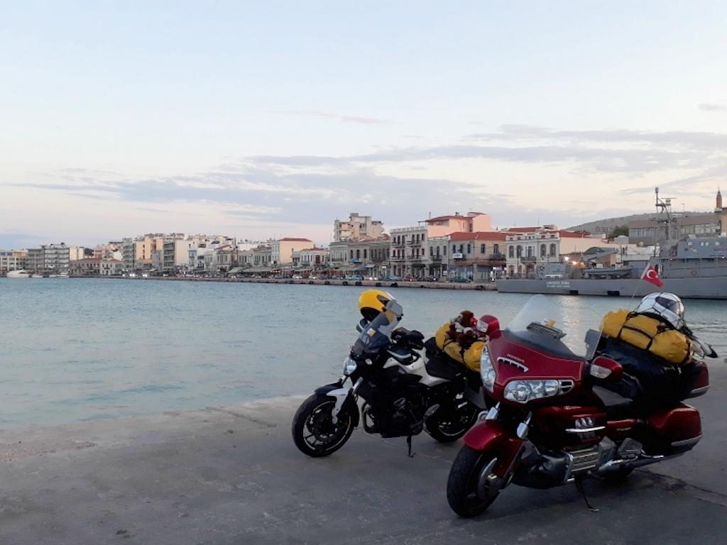Motorräder auf der Insel Chios