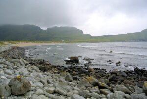 Blick über die Bucht von Ervik
