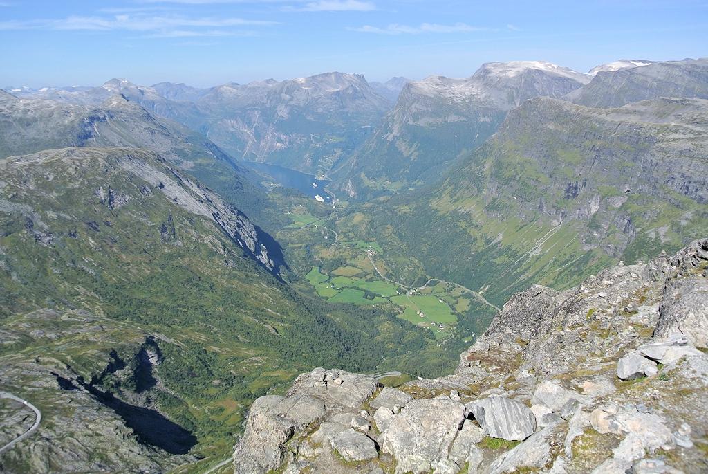 Dalsnibba: Ausblick bis zum Geirangerfjord