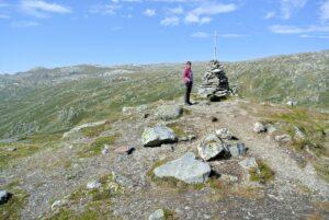 Wegmarkierung auf dem Sognefjellet