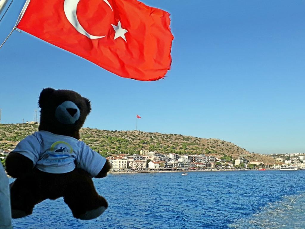 Abschied auf der Fähre von der Türkei nach Griechenland